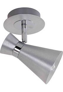 Spot 1E14 Aluminio Escovado Fh011A Bella