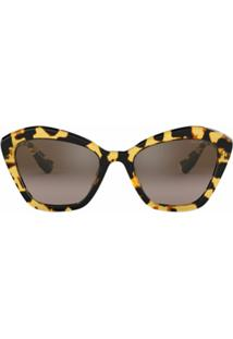 Miu Miu Eyewear Cat Eye Sunglasses - Marrom
