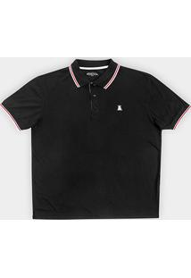 Camisa Polo Broken Rules Plus Size Bordado Masculina - Masculino