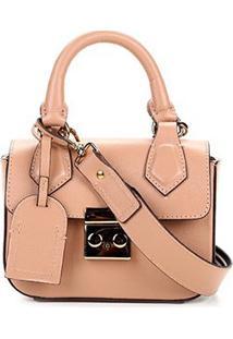 fdccfbe04 Shoestock. Bolsa Shoestock Feminina Listras Mini Bag Transversal Tiracolo  Alça Removível Couro
