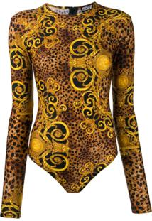 Versace Jeans Couture Body Com Estampa Barroca - Marrom