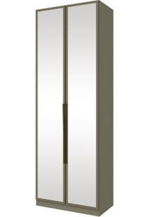Guarda Roupa Modulado Com Espelho 2 Portas 3 Gavetas Exclusive Henn Duna