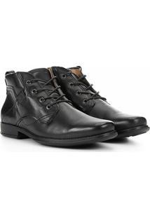 Sapato Social Pegada Cano Médio Masculino - Masculino-Preto