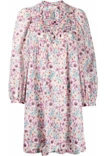 Isabel Marant Étoile Vestido Com Estampa Floral - Neutro