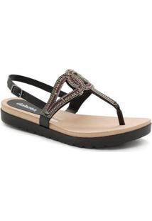 Sandália Flatform Dakota Z6922 Preta - Feminino-Preto