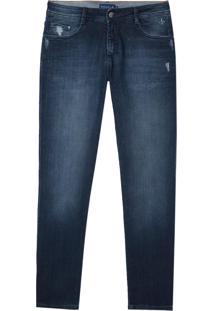 Calca Jeans Dark Blue Tank 3D (Jeans Escuro, 40)