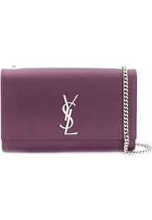 Saint Laurent Bolsa Tiracolo Kate - Roxo