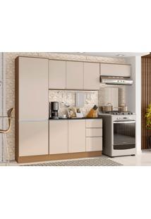 Cozinha Compacta C/ Tampo Paris-Poliman - Carvalho / Off White