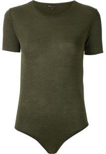 Bo.Bô Body Camiseta Fios Metalizados - Verde