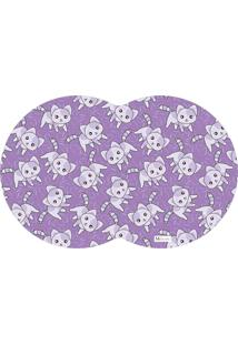Tapete Pet Gatos Roxo 55X35Cm