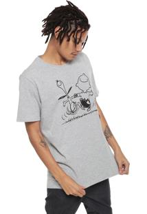 Camiseta Snoopy Manga Curta Charlie Brown Cinza