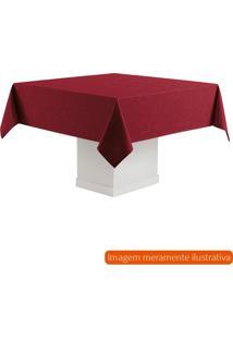 Toalha De Mesa Quadrada Sienna Vermelha