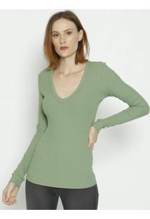 Blusa Canelada - Verde Claro - Colccicolcci