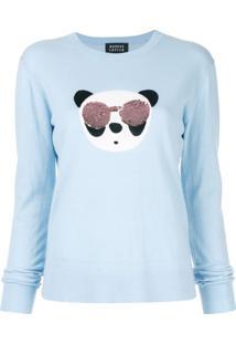 Markus Lupfer Suéter Tracy Panda Com Paetês - Azul