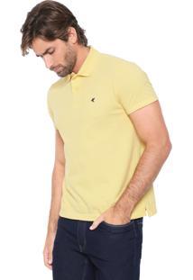 Camisa Polo Malwee Slim Logo Amarela