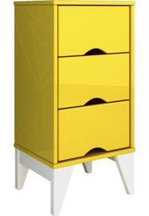 Mesa De Cabeceira Twister 3 Gv Amarela E Branca