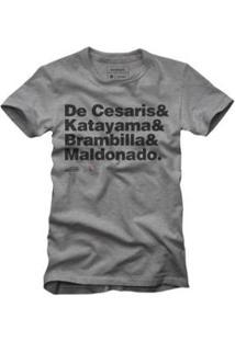 Camiseta Reserva Pilotos Masculina - Masculino-Cinza