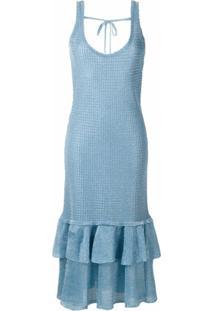 Olympiah Vestido Midi Sable De Tricô - Azul