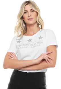 Camiseta Lança Perfume Pedraria Branca