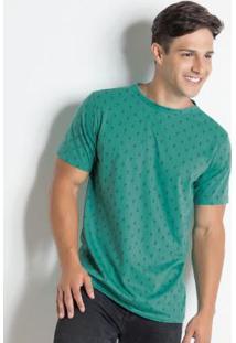Camiseta Verde Com Estampa De Âncora