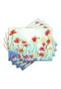 Jogo Americano - Flores Com 4 Peças - 859Jo