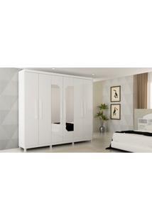 Guarda Roupa Infinity 6 Portas Branco Gelius Móveis