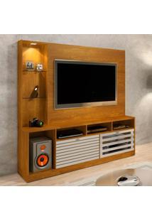 Estante Para Home Theater E Tv Até 65 Polegadas Frisare Caramelo E Off White