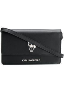 Karl Lagerfeld Bolsa Transversal Ikonik - Preto