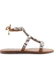 Sandália Gladiadora Glam Stones Brown | Schutz