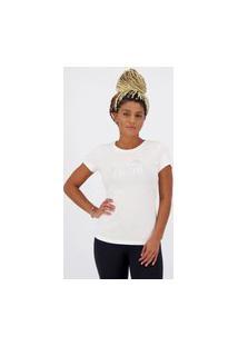 Camiseta Puma Essentials Metallic Feminina Branca