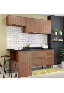 Cozinha Completa 5 Módulos 6 Portas Calábria Multimóveis Nogueira