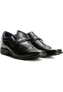 Sapato Social Walkabout Recorte Masculino - Masculino-Preto