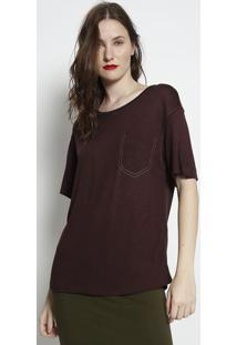 Camiseta Com Pespontos - Marrom Escuro - Forumforum