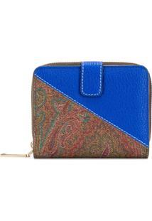 Etro Carteira Quadrada Bicolor - Azul