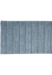 Tapete Para Banheiro Indiano Curacau 45X70Cm Cores Rozac Azul