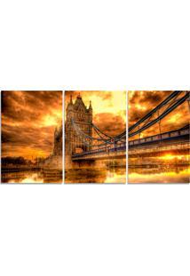 Quadro Decorativo Para Sala Ponte Torre Londres - Multicolorido - Dafiti