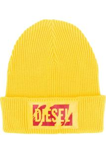 Diesel Gorro Com Logo - Amarelo
