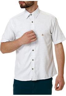 Camisa Manga Curta Masculina Branco