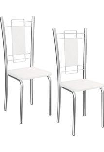 Kit 2 Cadeiras Florença Branca - Kappesberg