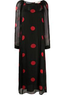 Mara Hoffman Polka Dot Print Dress - Preto