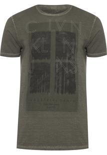 Camiseta Masculina Industrial Denim - Verde