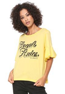 Camiseta Sommer Break Rules Amarela