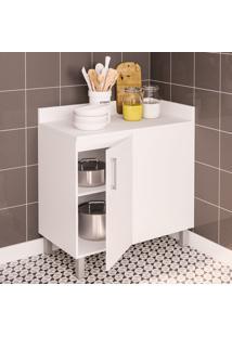 Armário De Banheiro Floripa 1 Porta 1 Prateleira Branco - Politorno