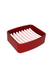 Saboneteira Splash 9,2 X 8 X 3 Cm Vermelho Bold Coza