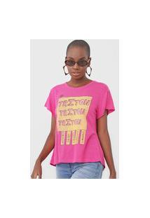 Camiseta Triton Lettering Rosa