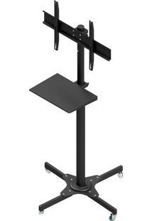 Suporte Pedestal Para Tv Avatron Tvc-02R-B Com Rodas 32 À 75 Pol