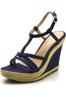 Sandália Anabela Stefanello 3032 Jeans