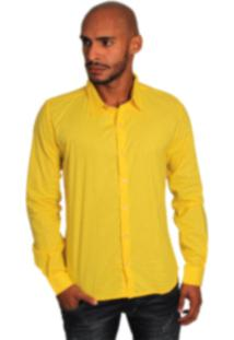 Camisa Social Joss Colors Amarelo