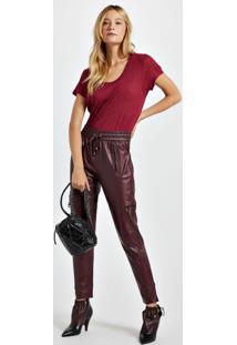 Blusa De Malha Com Decote New Colors Vermelho Disco - Gg