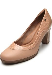 Scarpin Piccadilly Croco Nude